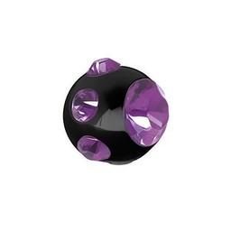 Piercing Ball - Crystals Black Steel