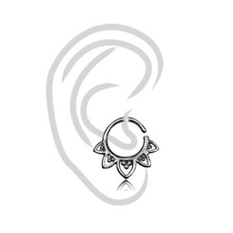 Wit Messing Tragus Ring - Vintage Design