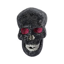 Swarovski Decoration - Black Skull