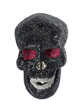 Swarovski Decoration Black Skull