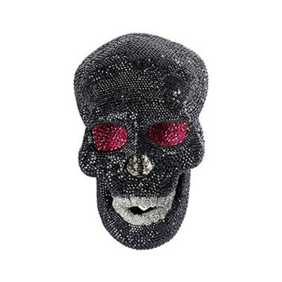 Swarovski Decoration - Black Skull