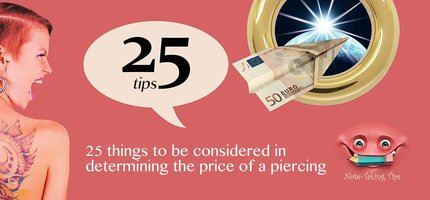 25 things to be considered in determining the price of a piercing