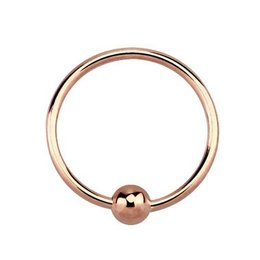 Pink-gold Plated Seamless Nose Ring
