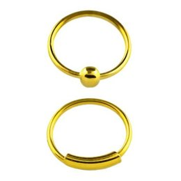 Gold plated seamless Nose Ring