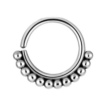 Surgical Steel Nose Ring - Balls