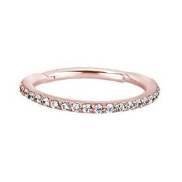 Rose Gold Plated Conch Ring - Swarovski Elements