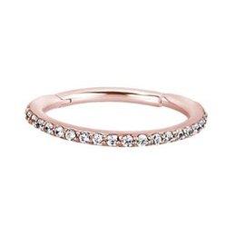Rosé Vergulde Conch Ring - Swarovski Elements