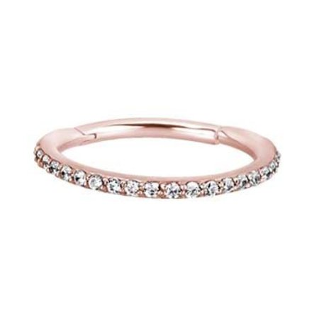 rose gold plated conch ring swarovski elements piercings works. Black Bedroom Furniture Sets. Home Design Ideas