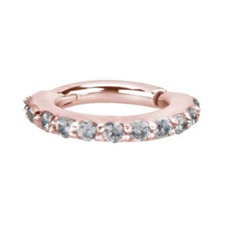 Rosé Vergulde Conch Ring - Swarovski Elements