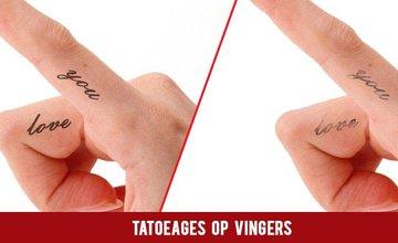 Tatoeages op vingers
