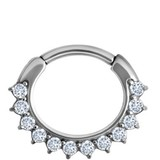Septum Click Ring - Kristalletjes