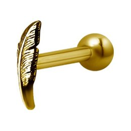 Gold Plated Barbell - Feather
