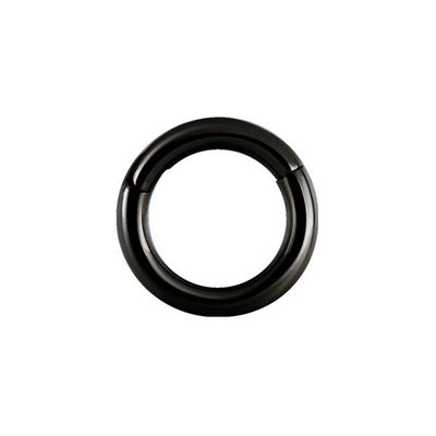 Zwart Chirurgisch Stalen Segment Ring - Basic (1.2mm)