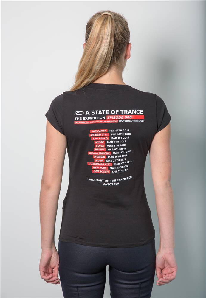A State Of Trance A State Of Trance - Black 600 World Tour T-Shirt - Women