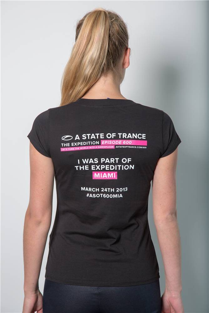 A State Of Trance A State Of Trance - Black 600 Miami T-Shirt - Women
