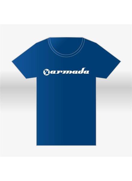 Armada Music Armada Music - Blue Round-Neck Logo T-Shirt - Men