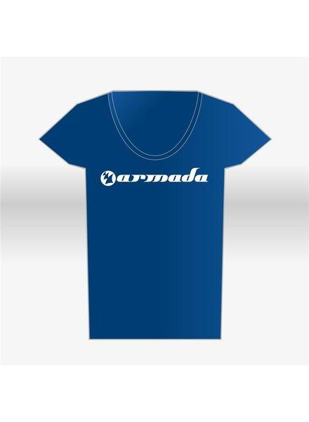 Armada Music Armada Music - Blue Round-Neck Logo T-Shirt - Women