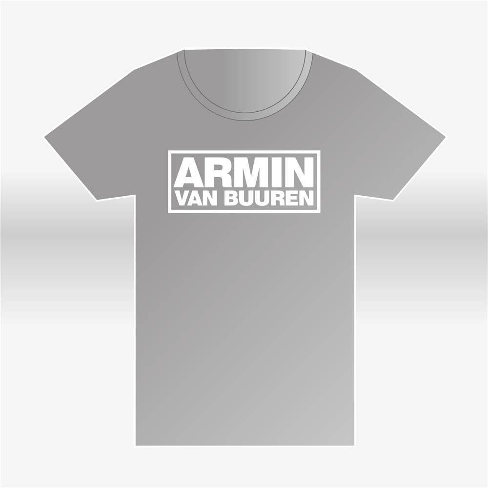 Armin van Buuren Armin van Buuren - Heather Grey Logo T-Shirt - Men
