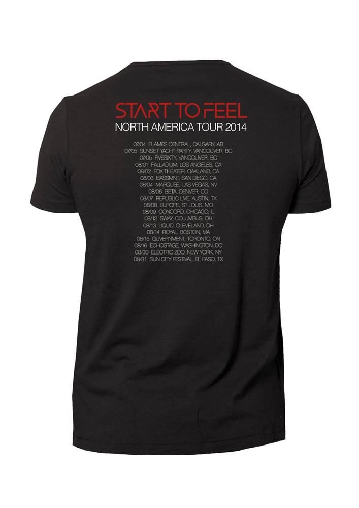 Cosmic Gate - Start To Feel Tour T-Shirt