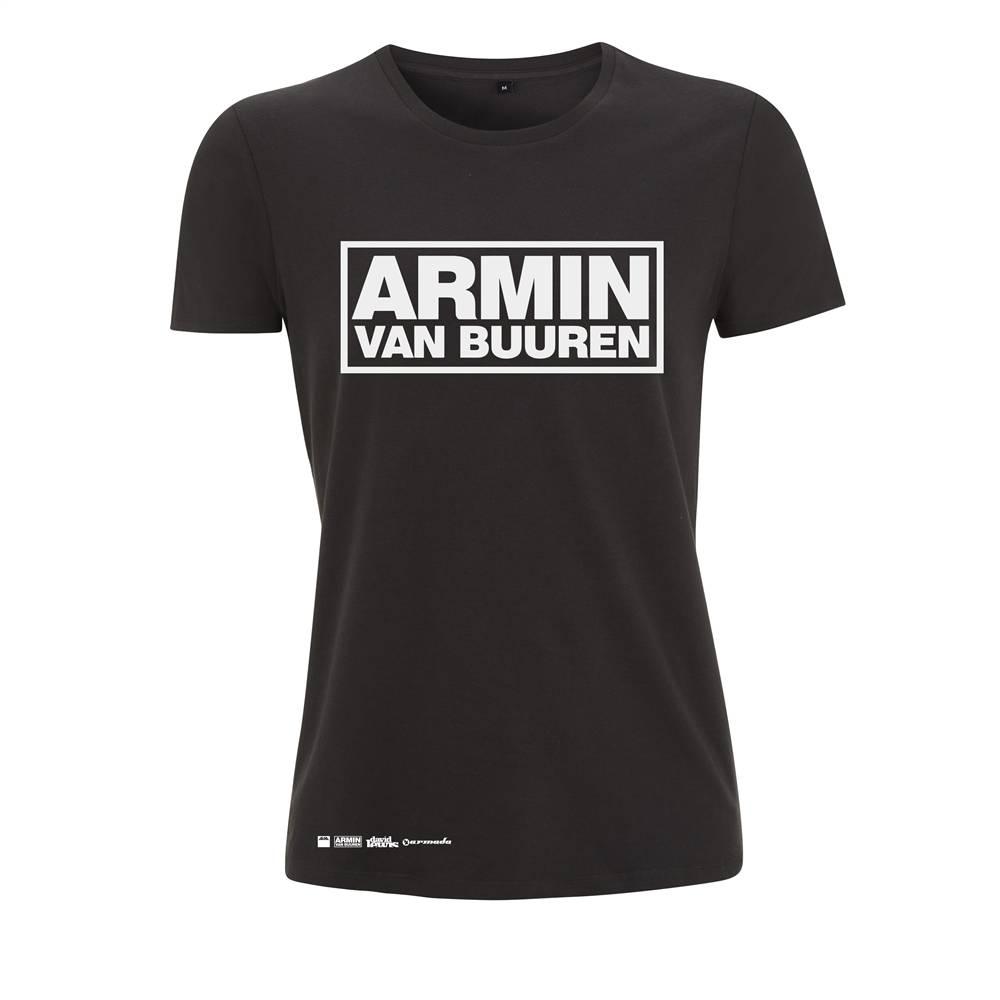 Black t shirt logo - Armin Van Buuren Armin Van Buuren Black Logo T Shirt Women