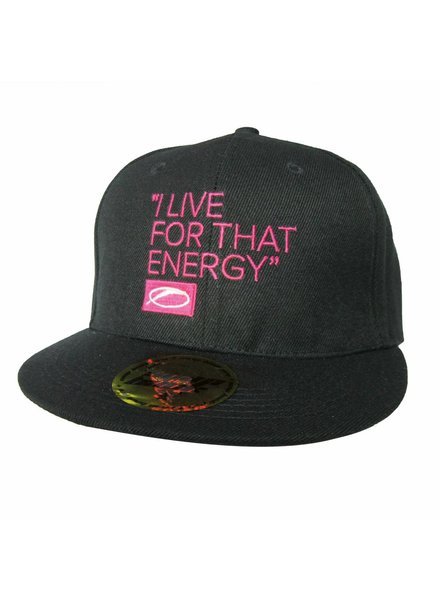 A State Of Trance A State Of Trance - I Live For That Energy - Pink On Black Snap Back Cap