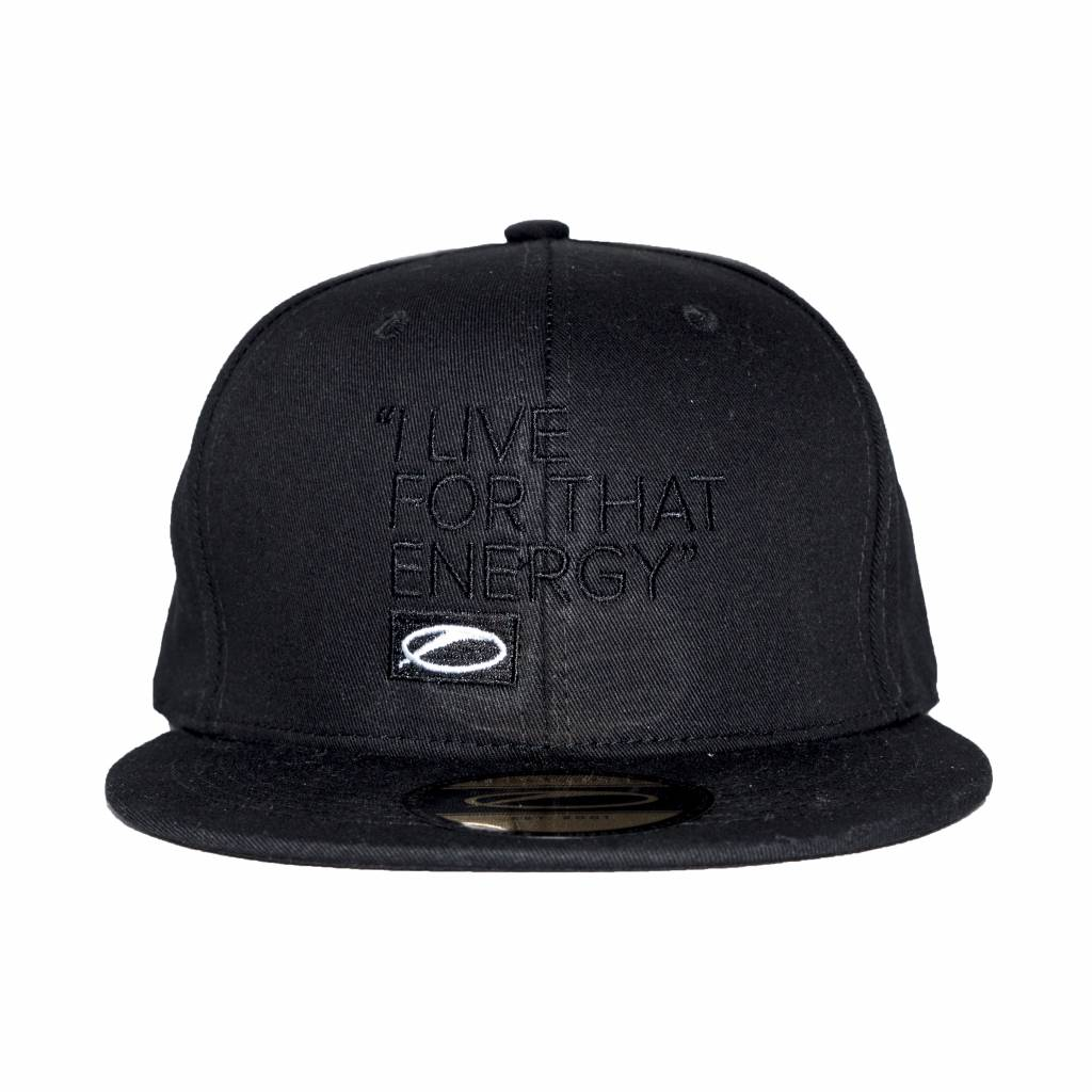 A State Of Trance A State Of Trance - I Live For That Energy - Black On Black Snap Back Cap
