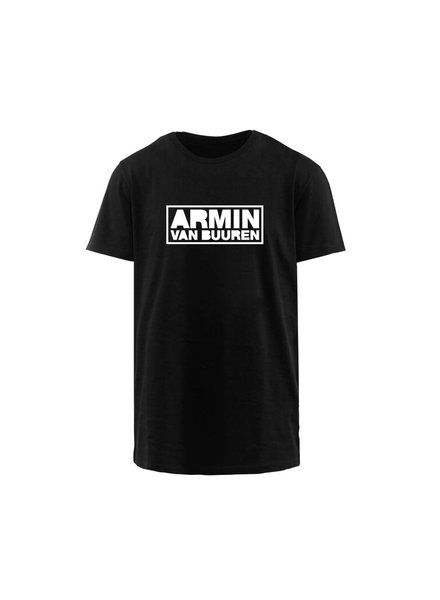 Armin van Buuren Armin van Buuren - White Logo - Black T-Shirt
