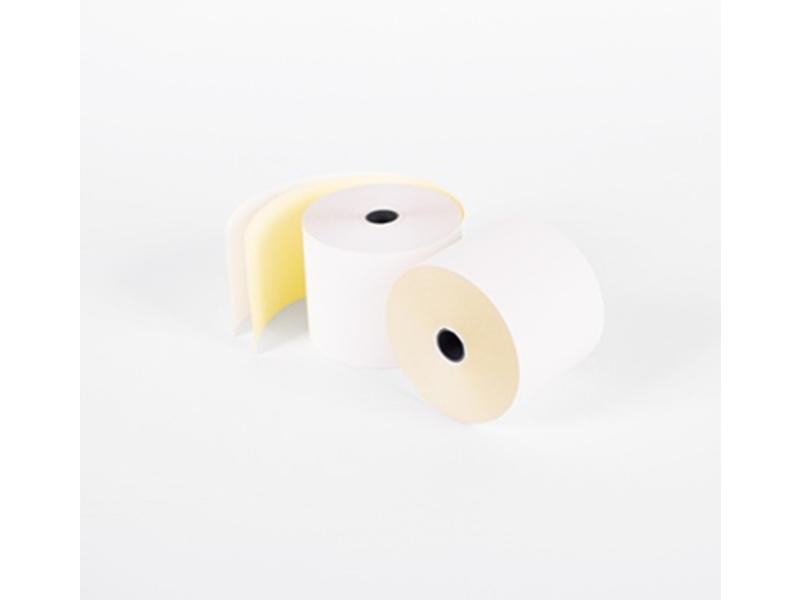 Kassarollen Duplorollen wit/geel 57x70x12 mm