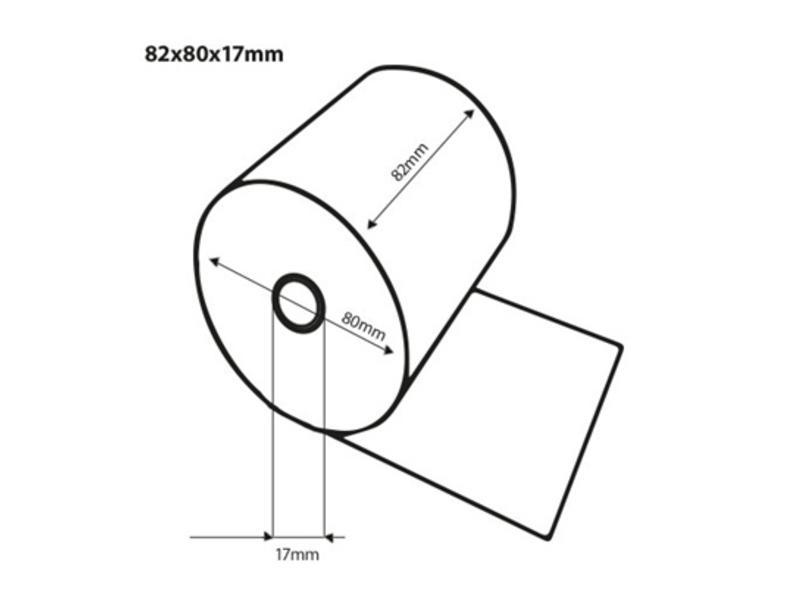 Kassarollen Duplorollen wit/wit 82x80x17mm - 20st/ds