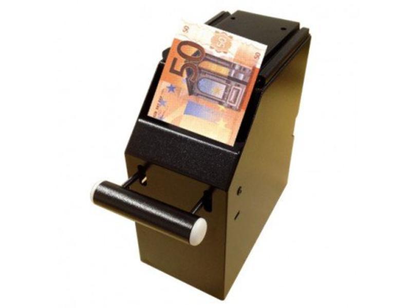 Cashbox 2-delig met 2 sleutels zwart