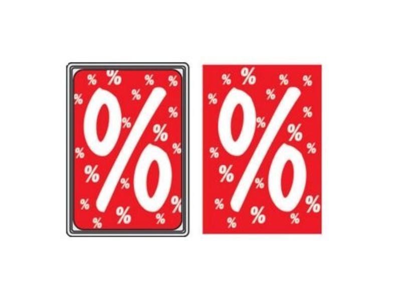Prijskaart procentteken (10 stuks)