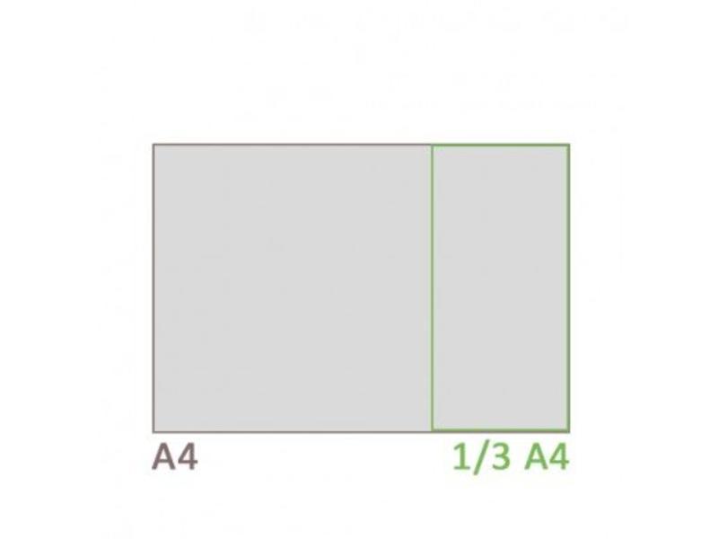 Folderstandaard T-type 1/3 A4 liggend