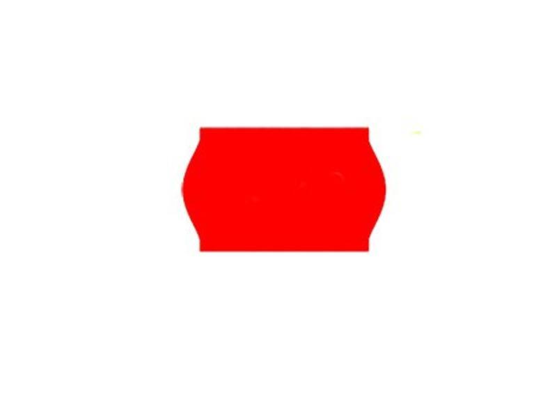 Uno prijsetiketten 26x16 fluor rood - 1ds à 36 rol