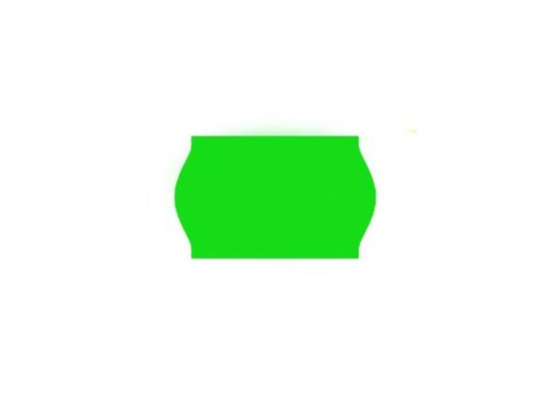 Uno prijsetiketten 26x16 fluor groen - 1ds à 36 rol