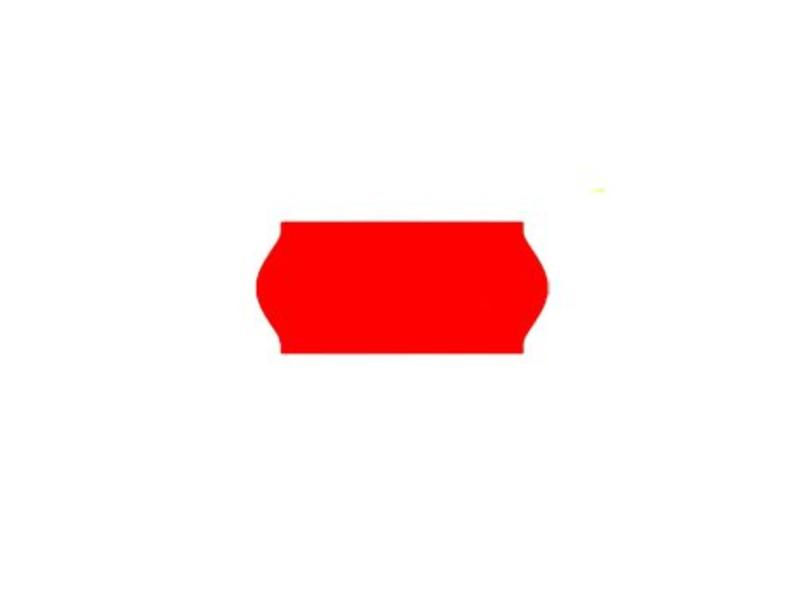 Uno prijsetiketten 26x12 fluor rood - 1ds à 36 rol