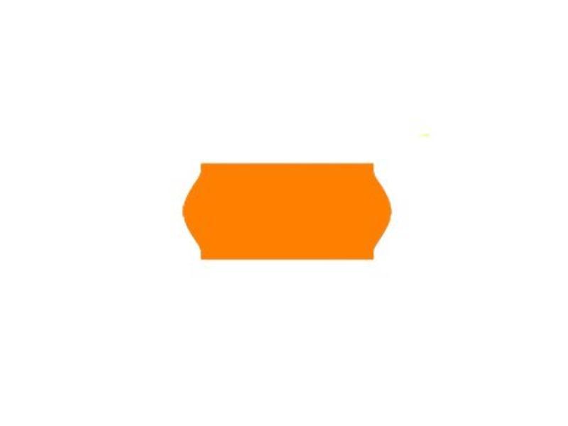Uno prijsetiketten 26x12 fluor oranje - 1ds à 36 rol