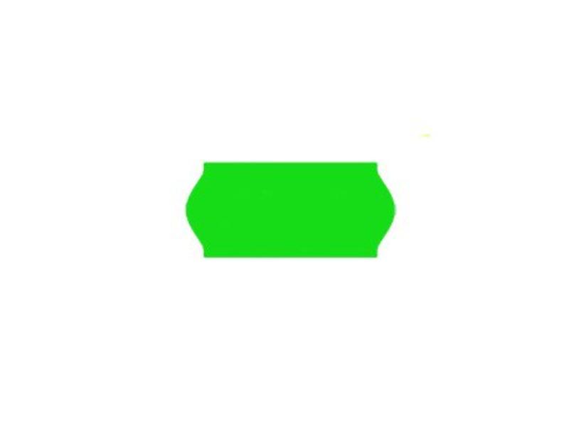 Uno prijsetiketten 26x12 fluor groen - 1ds à 36 rol
