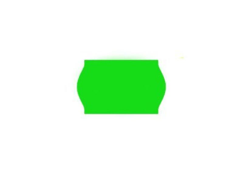 Printex prijsetiketten 26x16 fluor groen - 1ds à 36 rol