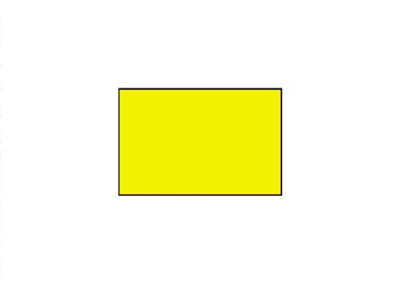 BLITZ prijsetiketten 26x16 fluor geel rechthoek - 1ds á 36 rol