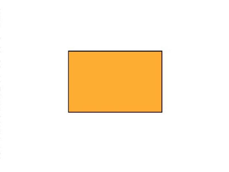 BLITZ prijsetiketten 26x16 fluor oranje rechthoek - 1ds á 36 rol