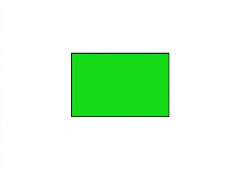 Uno prijsetiketten 26x16 fluor groen rechthoek - 1ds á 36 rol