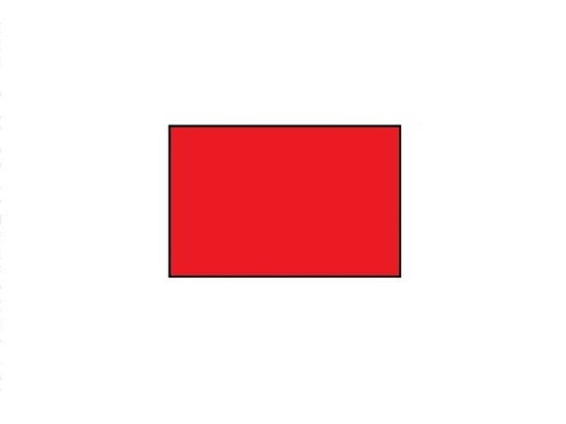 Uno prijsetiketten 26x16 rood rechthoek - 1ds á 36 rol