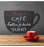 Krijtbord kopje koffie