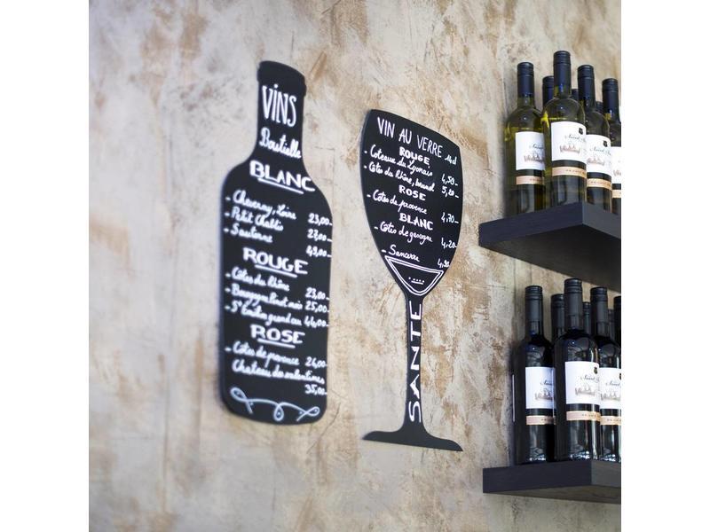 Krijtbord wijnglas