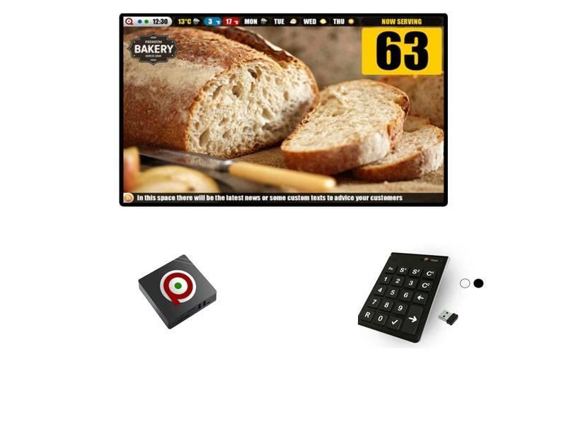 Digitaal Volgnummersysteem set  Box + Afstandsbediening (Draadloos)