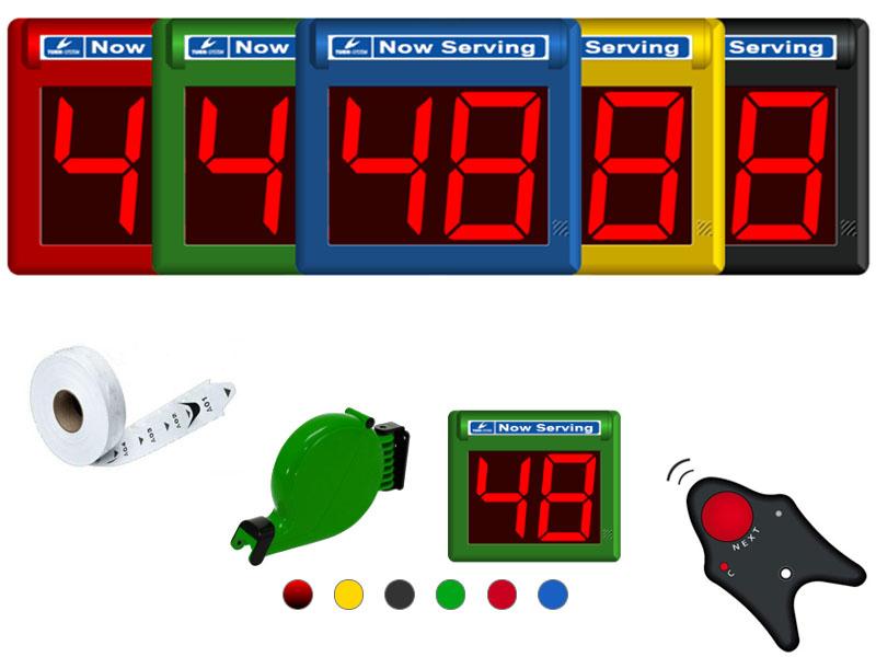 volgnummersysteem classic gekleurd