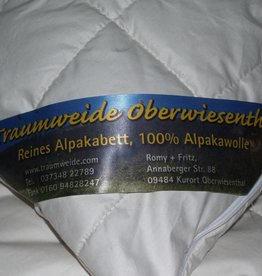 Traumweide Oberwiesenthal Alpaka-Stepp-Bett, Sommer