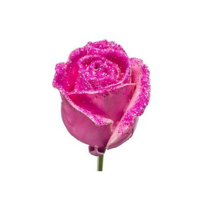 5 Wachs Rosen P482(Pink-Glitter)