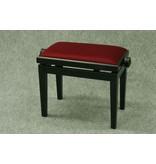 Baumgärtel Klavierbank BKB 11, zerlegt, Holzfarbe schwarz matt, Velour rubinrot