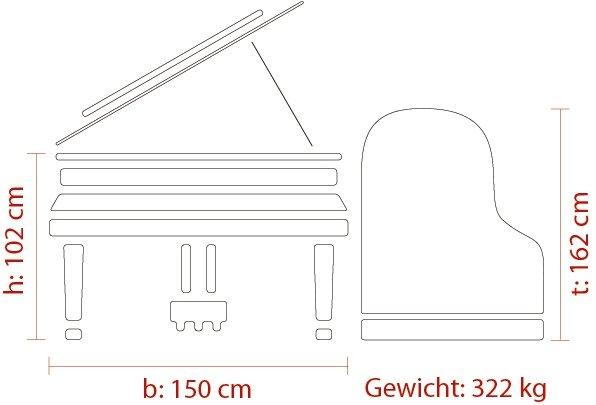 Feurich NEU! Mod. 162 - Dynamic I schwarz